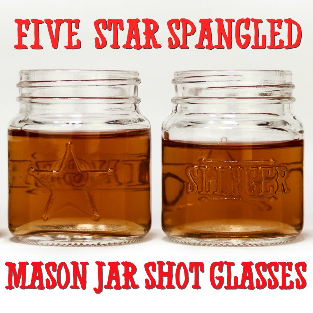 The Slinger Mason Jar Shot Glasses 5Pack