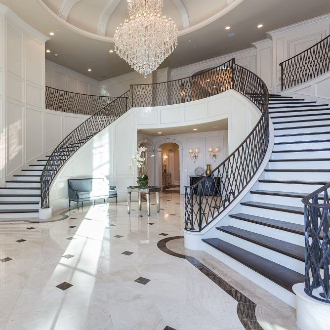 Double Staircase Foyer: Stunning Double Staircase 😍 #foyer #staircase #staircases