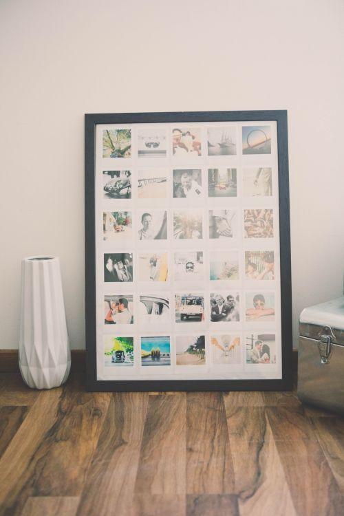diy cadre photos polaroid bricolage et diy decoration decoration photo et cadre photo. Black Bedroom Furniture Sets. Home Design Ideas