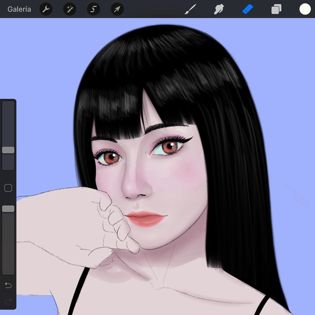 "Sketch Studio on Instagram: ""Retrato en iPad ✨✍️ #drawing #drawings #digitalart #digitalartist #instaart #ilustracion #instagirls #digitaldrawing #pencildrawing #wip…"""