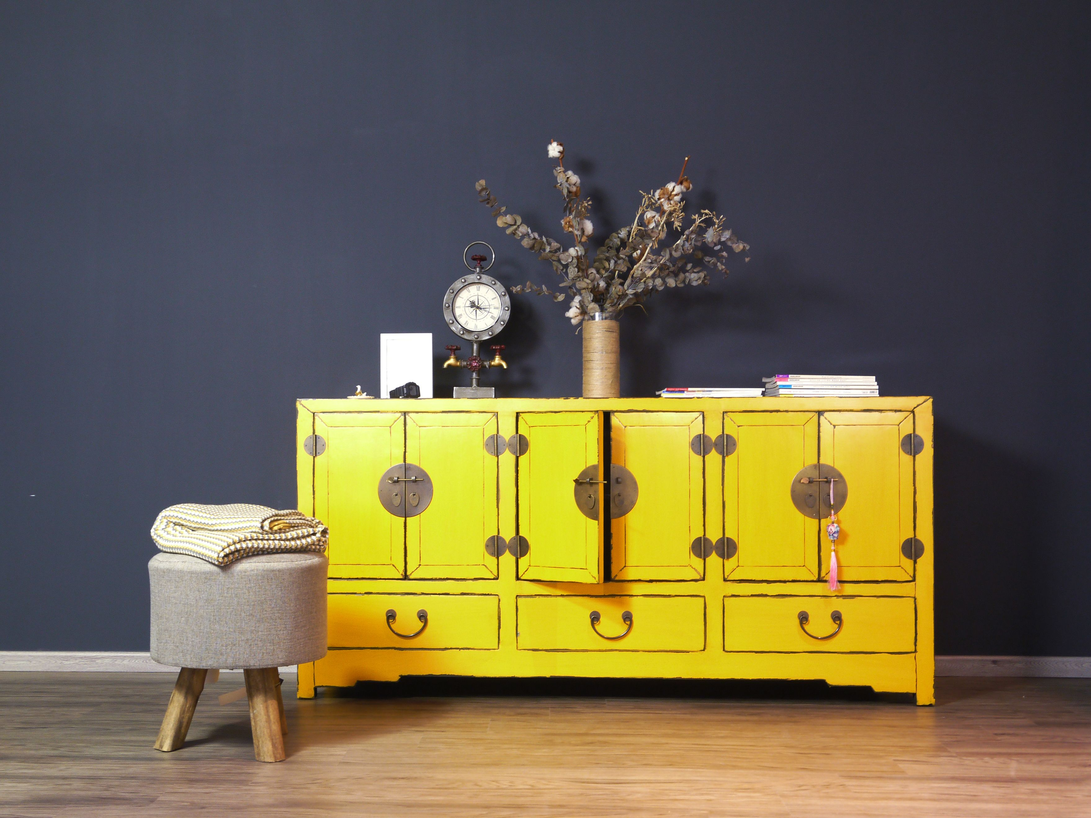 Yellow Chinese Sideboard chineseantique furniture sidebaord cabinet
