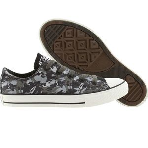 Converse Big Kids Chuck Taylor All Star Low Ox (charcoal) 642855F - $38.00