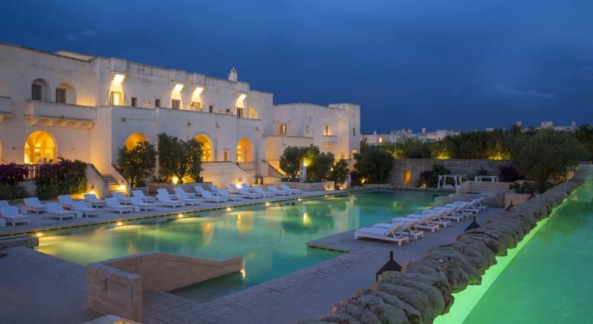 Featuring Traditional Architecture From Puglia And A Panoramic Setting In The Mediterranean Vegetation Borgo Ega Hotel Offers 4 Swimming Pools
