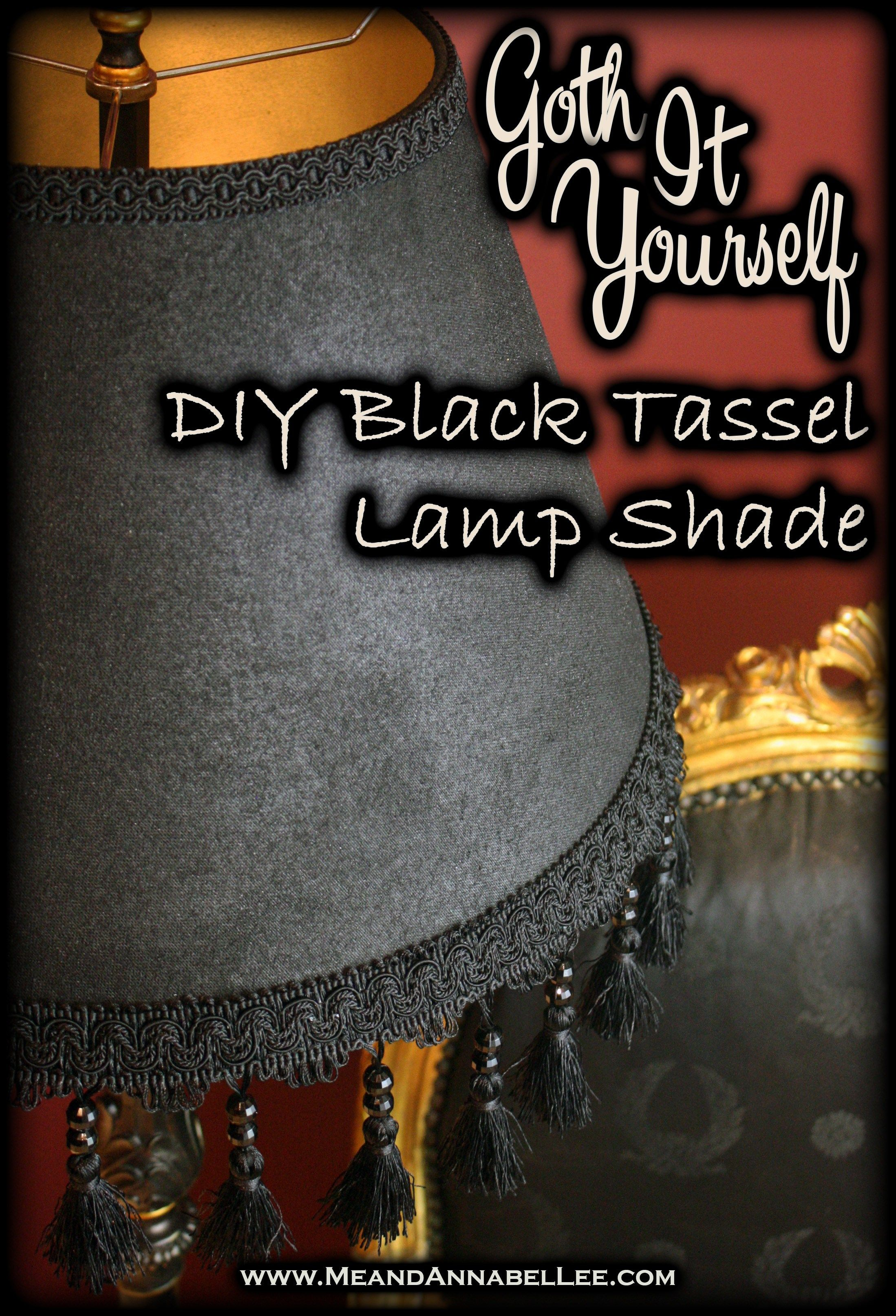 Photo of DIY Victorian Gothic Black Lamp Shade & Floor Lamp | Goth Home Decor | Me and Annabel Lee