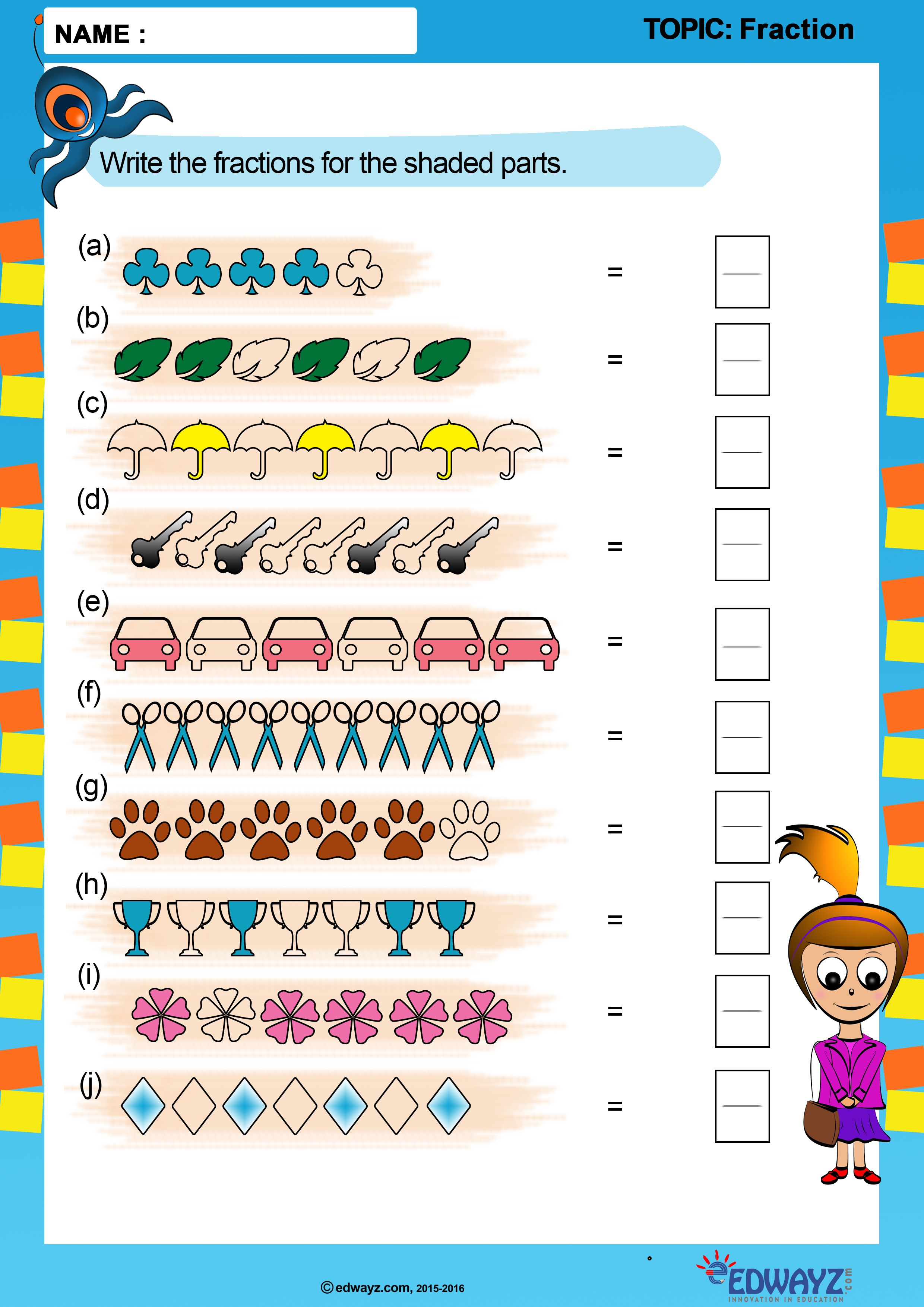 Worksheets Class3 Grade3 Fractions Science Worksheets Class 3 Maths Fractions