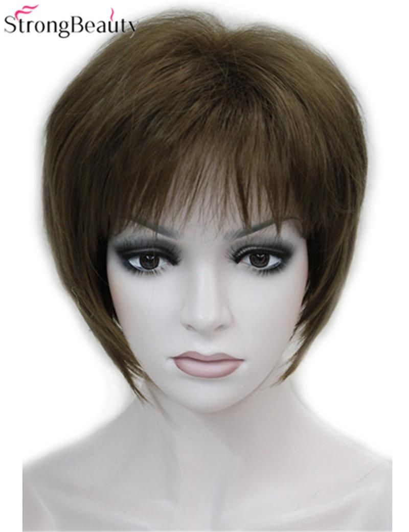 Visit to buy strong beauty short synthetic straight wigs heat