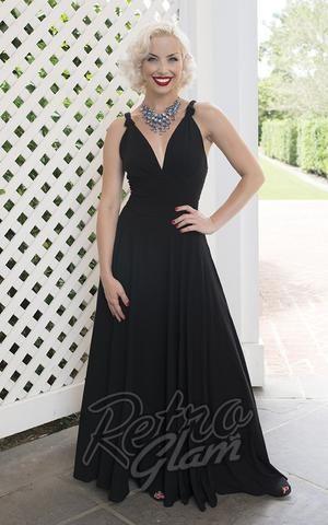 Trashy Diva Helena Dress in Black #retroglam #retroglamclothing #30s #40s #oldhollywood #glamour