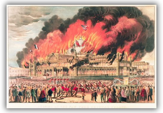 Burning of the New York Crystal Palace