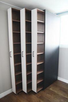 Ausziehbare Bücherregale / Bücher im Innenraum ...   - Room Inspo - #Ausziehba...
