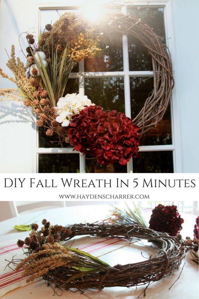 DIY Fall Wreath In 5 Minutes