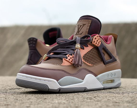 hot sale online 12d9a 63b5e Air Jordan IV Patchwork Louis Vuitton Don Customs
