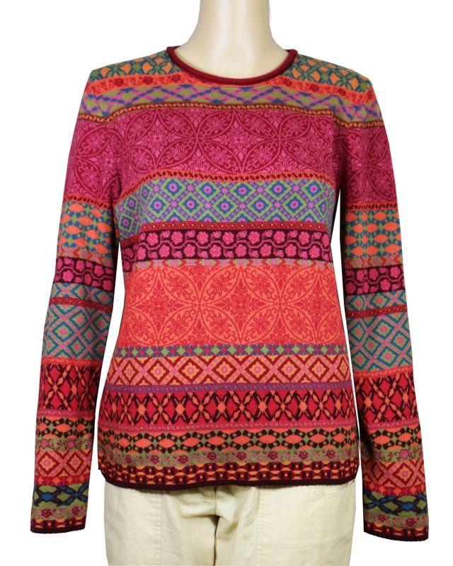 Dunque Jacquard Kleid ohne Arm Bio Baumwolle Strick   Strick
