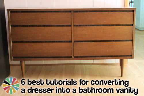 Best The 6 Best Tutorials On How To Convert A Dresser Into A 640 x 480