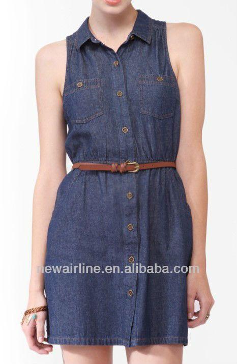 Modelos de vestidos de tela jeans