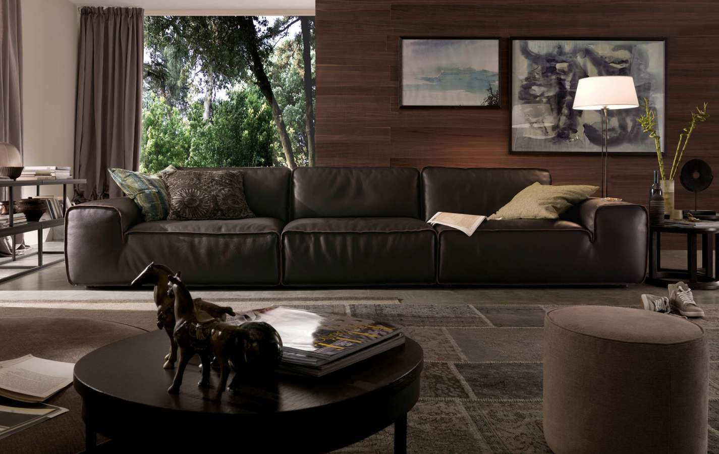 Divani chateau d ax leather sofa - Modern Furniture Store In Boston Introduces Avenue Leather Sofa By Chateau D Ax Avenue Leather Sofa Is Available At Nova Interiors In Variety Of