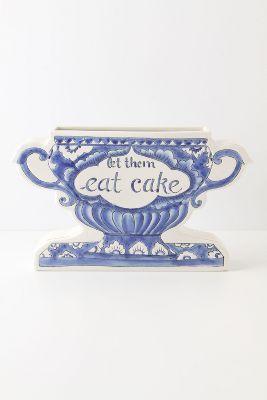 let them eat cake vase $48