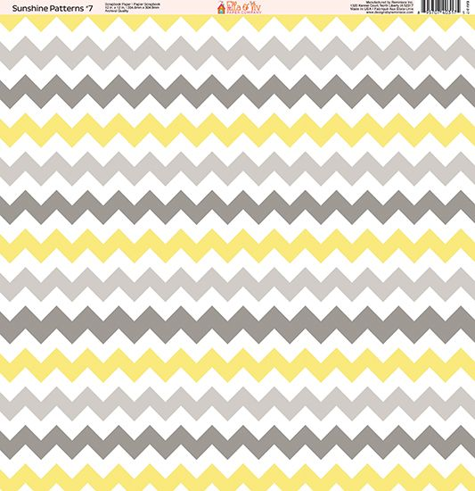 Ella and Viv Paper Company - Sunshine Patterns Collection - 12 x 12 Paper - Seven at Scrapbook.com