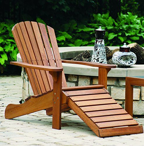 outdoor interiors cd3111 eucalyptus adirondack chair and built in rh pinterest com