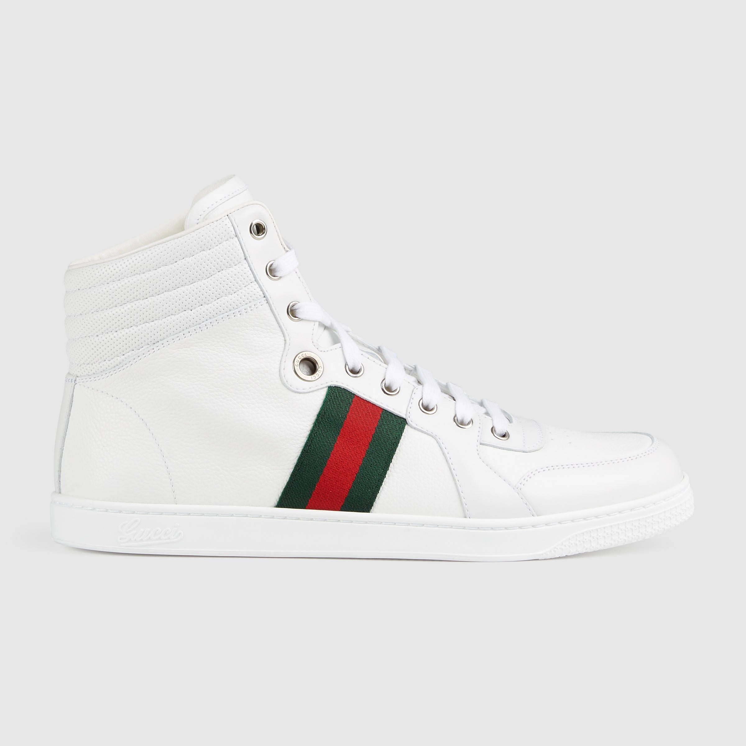 27255b943 Leather high-top sneaker | zapatos | Leather high tops, Sneakers ...