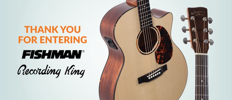 Win An Acoustic Guitar From Recording King And Fishman Guitar Recording King Acoustic
