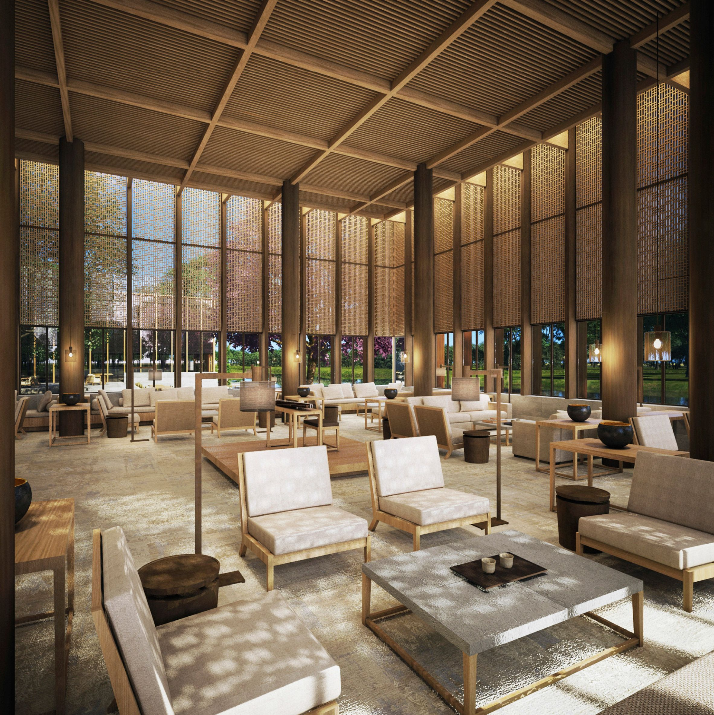 aman in shanghai id resort hotel lobby design hotel lounge rh pinterest com