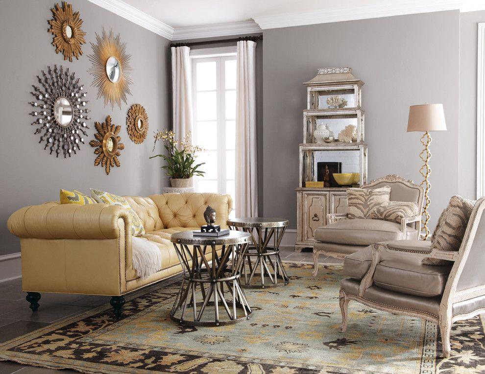 inspired sunburst mirror in living room traditional with mirror rh pinterest com