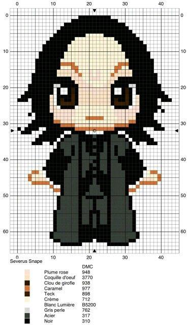 Harry Potter - Snape - Chibi Cross Stitch Pattern