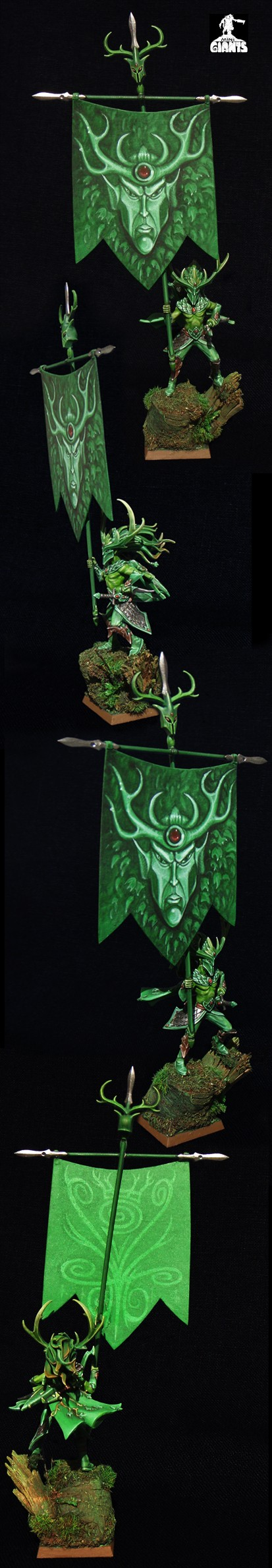 Wood Elf Noble with Battle Standard Bearer