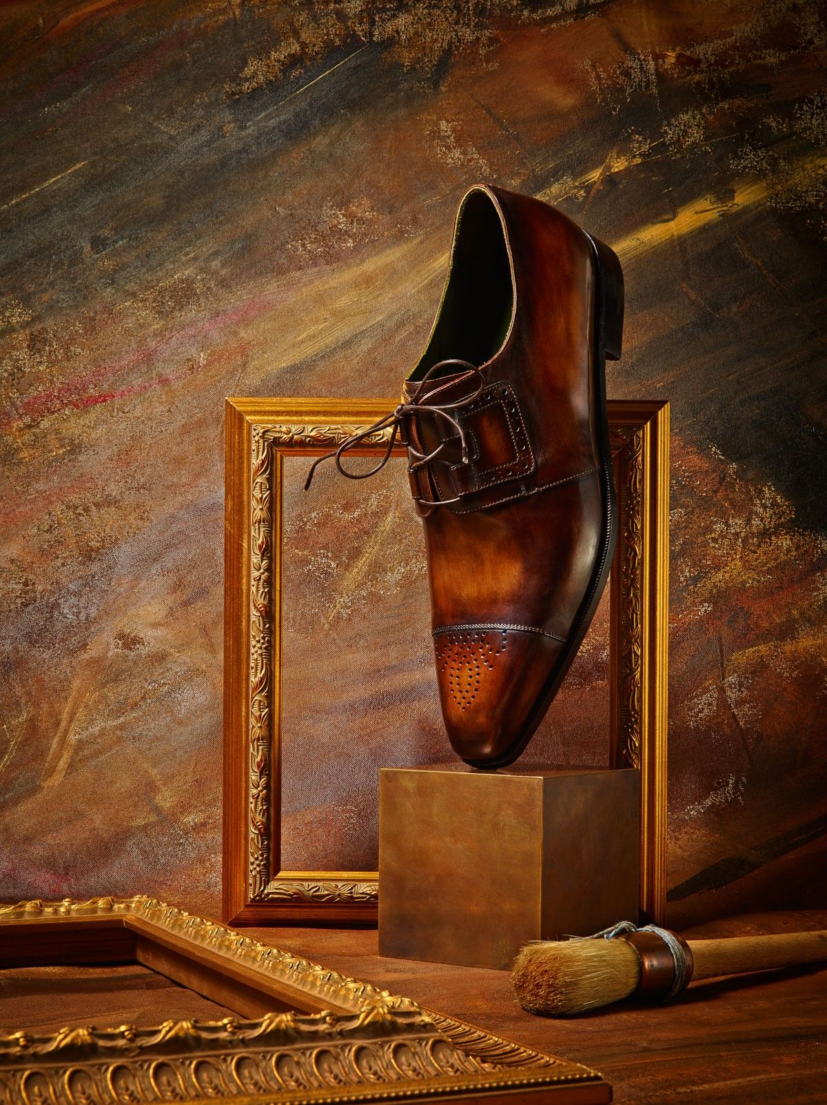Venezia leather Derby shoes by Berluti | Burnished leather shoes