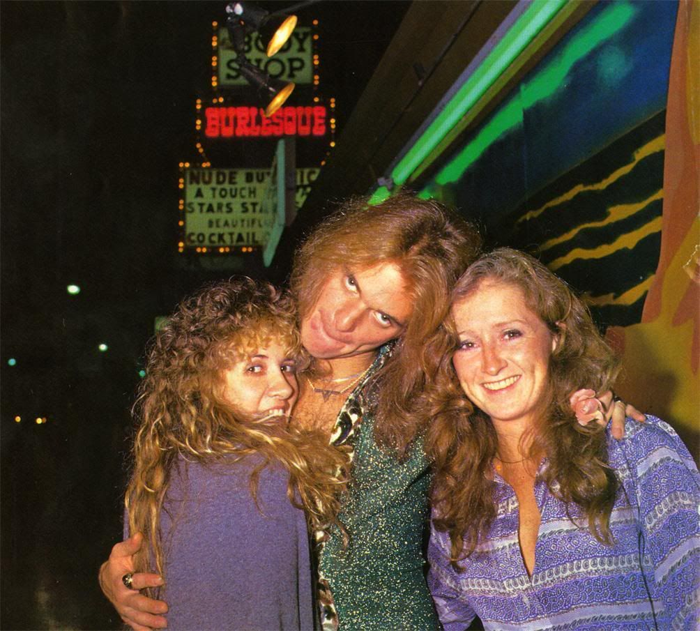 Stevie With David Lee Roth Bonnie Raitt Circa 1979 Stevie Nicks Bonnie Raitt David Lee Roth