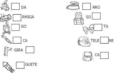 Silabas Com Fa Fe Fi Fo Fu Para As Aulas De Alfabetizacao Com