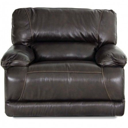 Flexsteel Fleet Street Dark Brown Recliner Houston