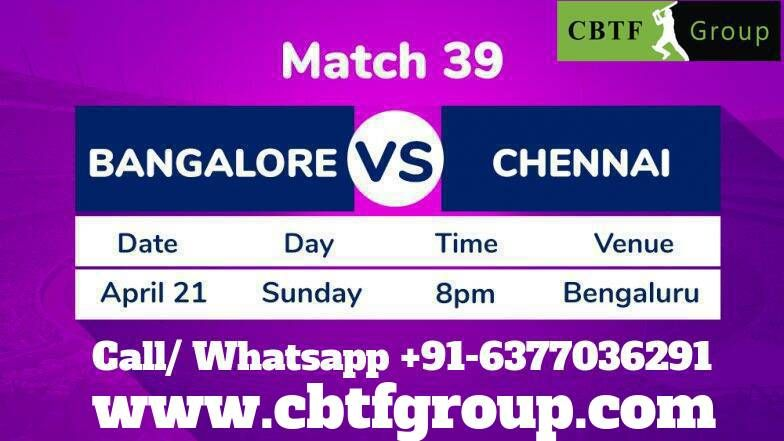 welcome to CBTFGROUP Today Match 39 of the 2019 VIVO IPL