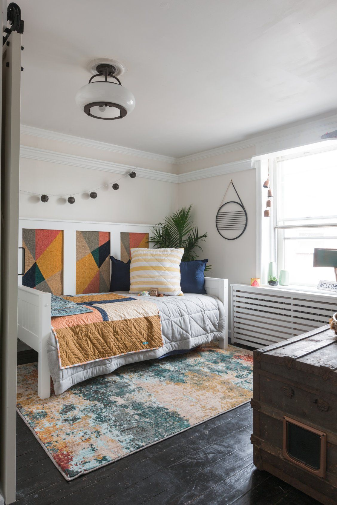 A Spare Bedroom Is Converted Into An Inviting Guest Bedroom And