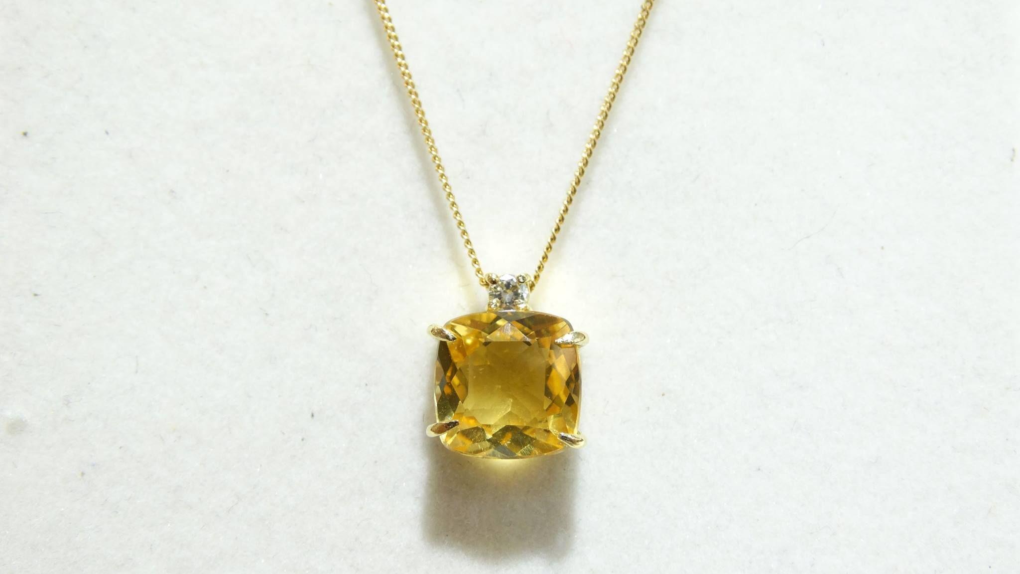 da7511a4379 Citrino e diamante ouro 18k
