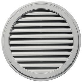 Builders Edge 12 In X 12 In Paintable Round Vinyl Gable Vent 120033636 Gable Vents Builders Edge Home Depot