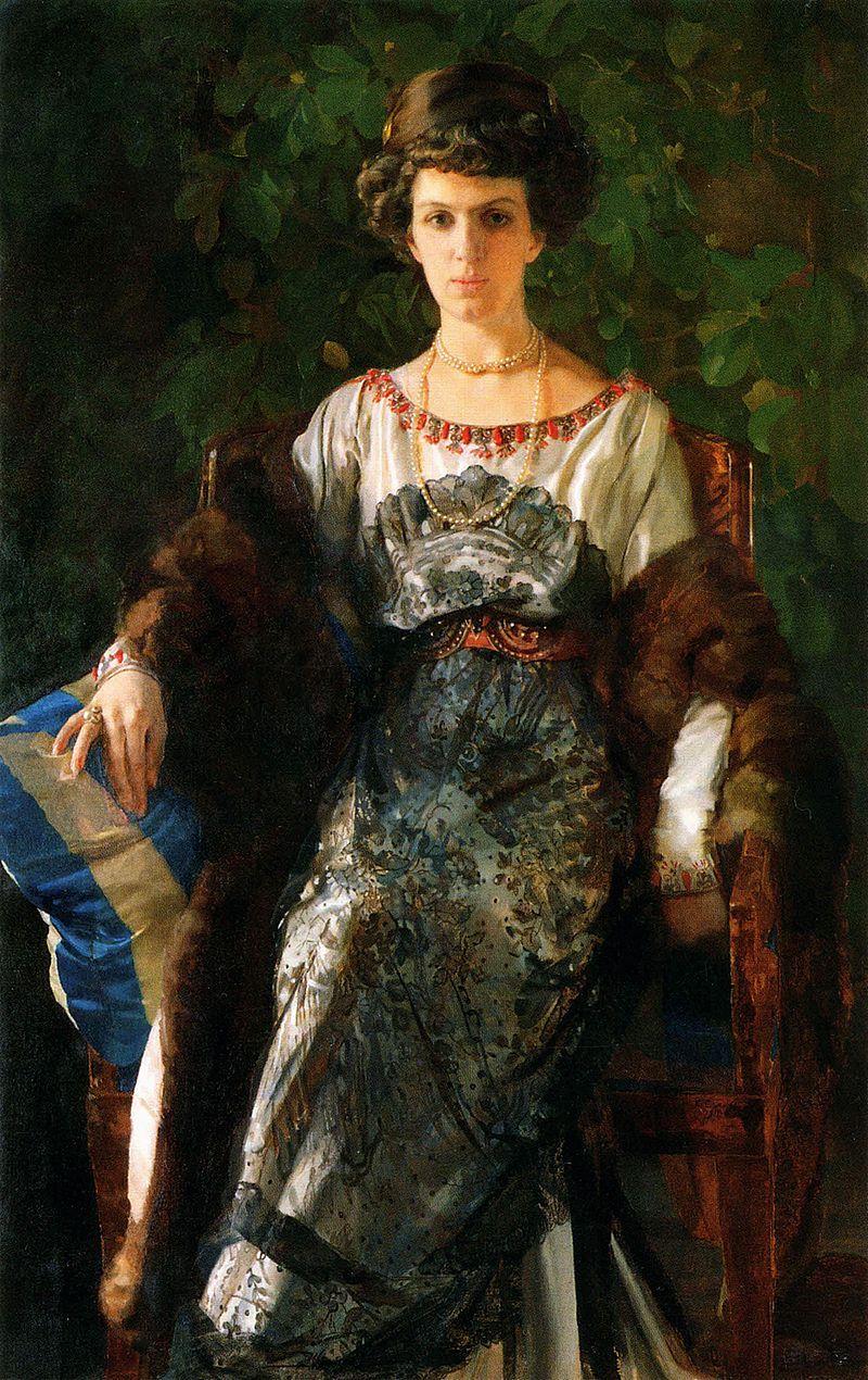 Константин Сомов. Портрет Евфимии Носовой. 1911