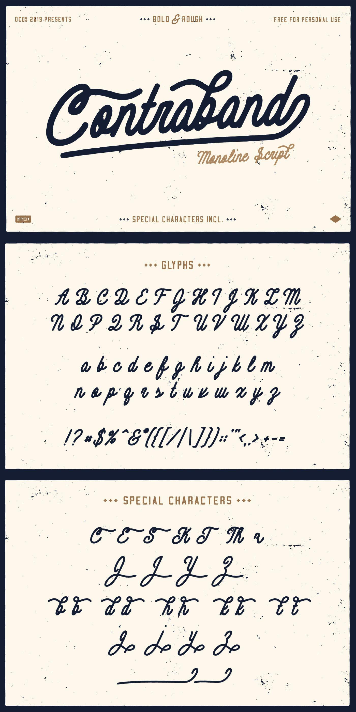 Contraband Free Monoline Script Font Pixel Surplus Resources For Designers Script Fonts Vintage Script Fonts Script Fonts Alphabet