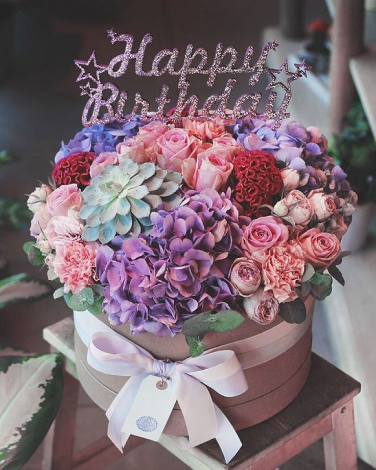 Instagram Цветочные композиции, Дни рождения, С днем