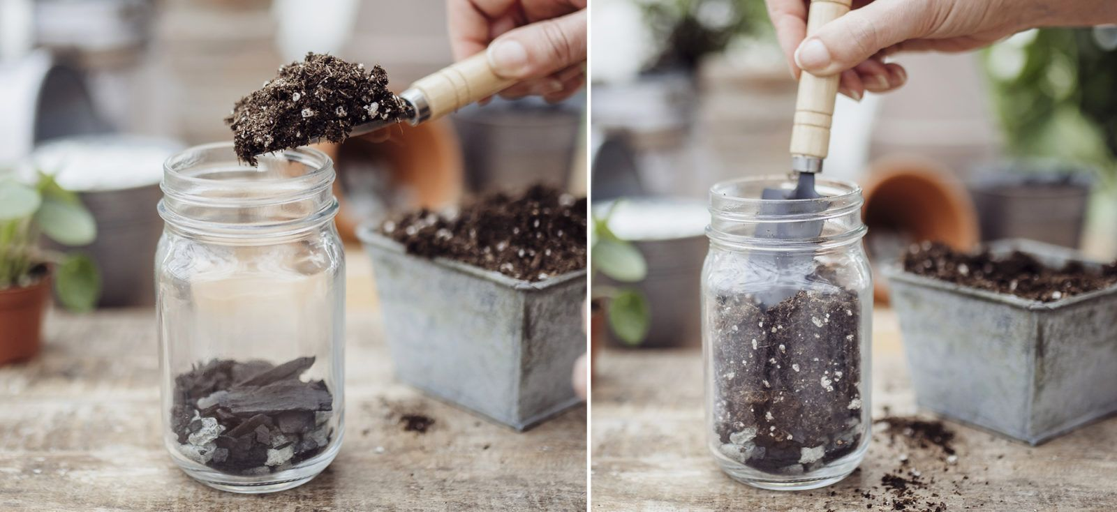 How to pot a houseplant without drainage with images