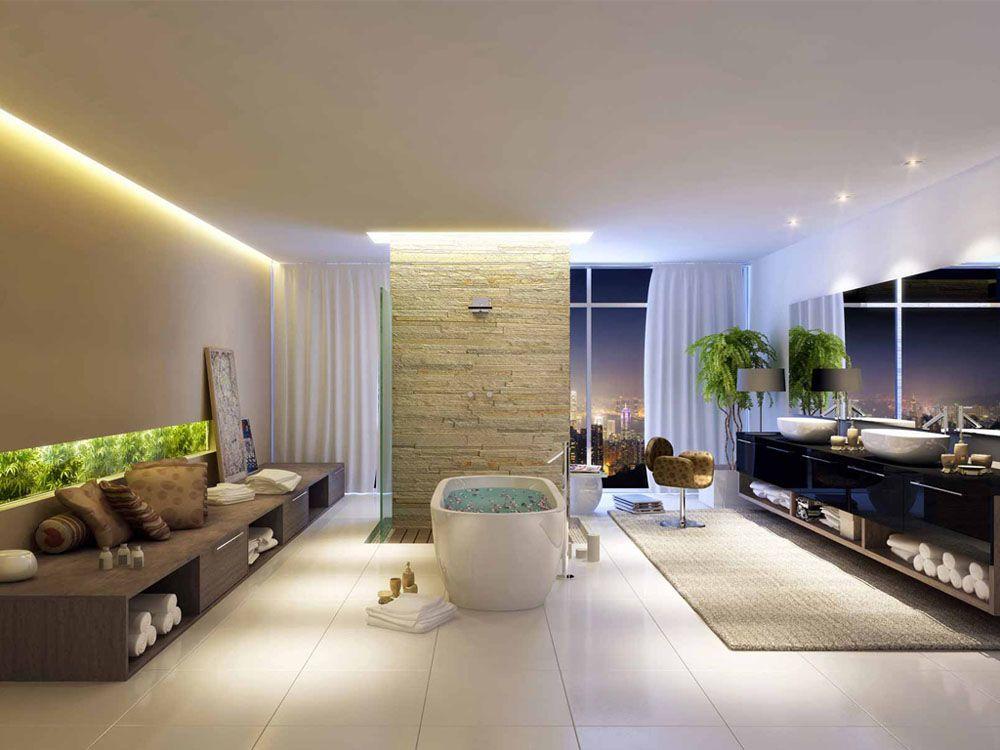 Banheiros podem seguir uma linha sofisticada e apontar tendências. Inspire-se!