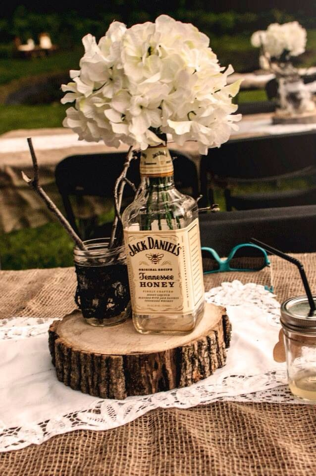Tennessee honey jack daniels hydrangea rustic wedding