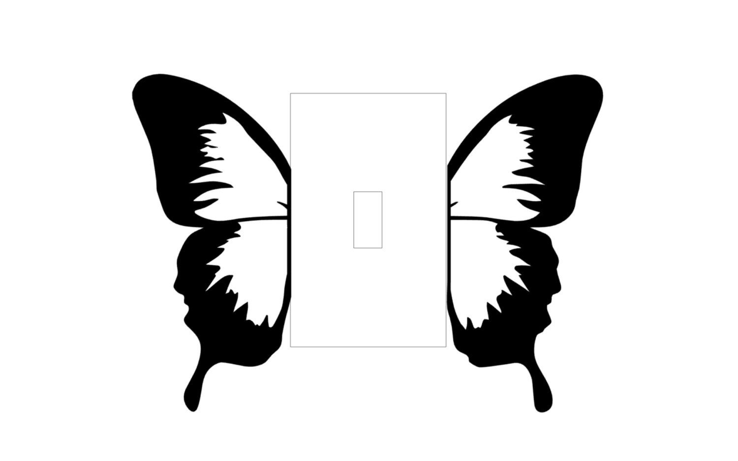 Butterfly Light Switch Vinyl Decal By Dessicadupin On Etsy