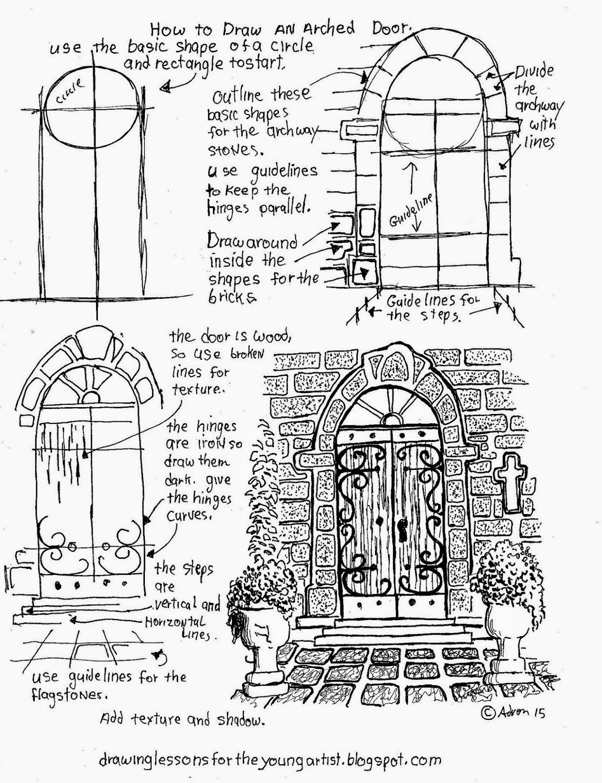 How To Draw An Arched Door A Free Printable Worksheet