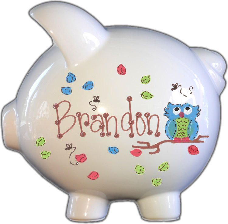 Turtle Piggy Bank for Boy by The Spoiled Sprout