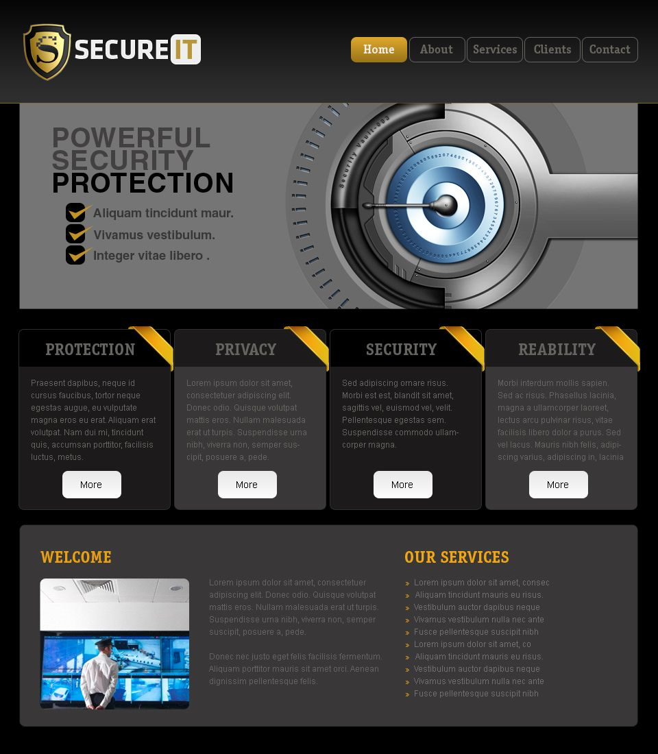 Web Templates - Security by netspy9286 | web security | Pinterest