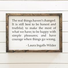 Laura Ingalls Wilder quote  Wood Sign  Wood and Canvas Sign   Etsy