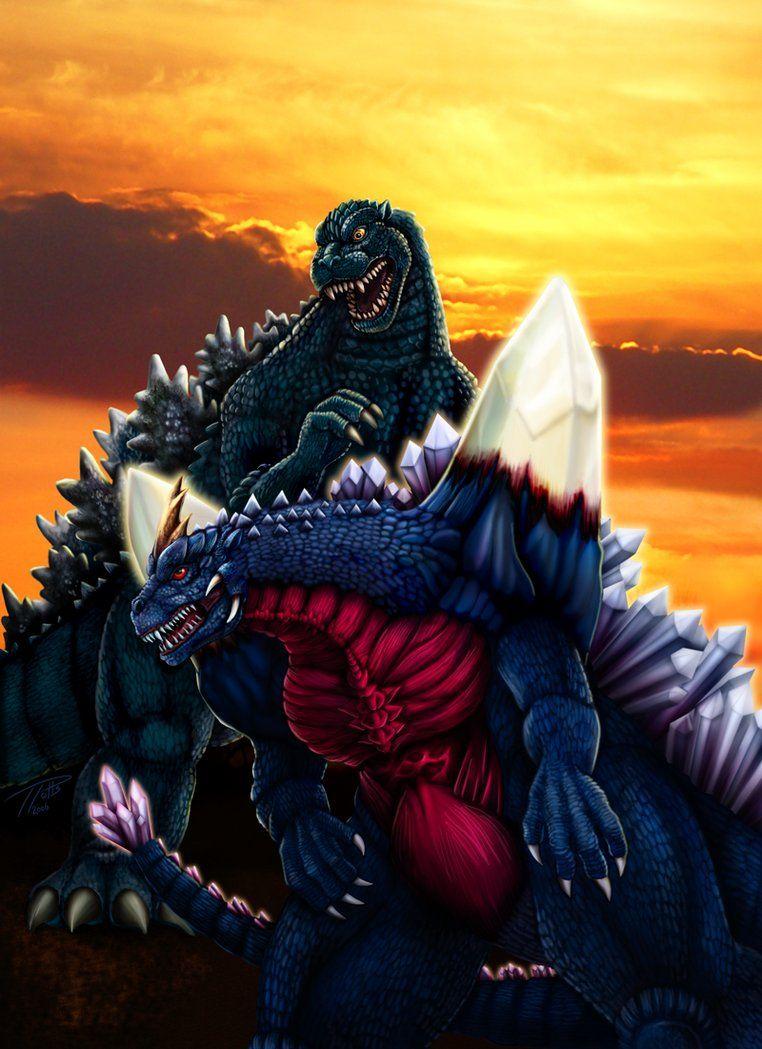 Godzilla Vs Space Godzilla By Dragonosx On Deviantart Godzilla