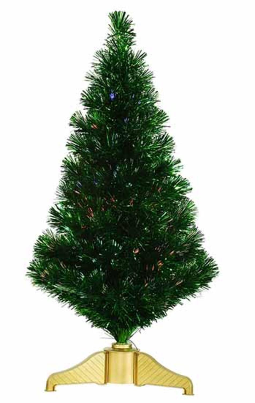 3\' Xmas Green Fiber Optic Artificial Tinsel Christmas Tree - Multi ...