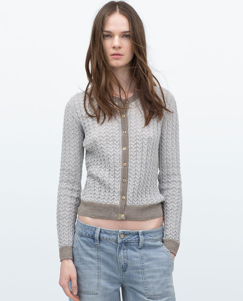 Image 1 of KNITTED CARDIGAN from Zara | Summer/Spring | Pinterest ...